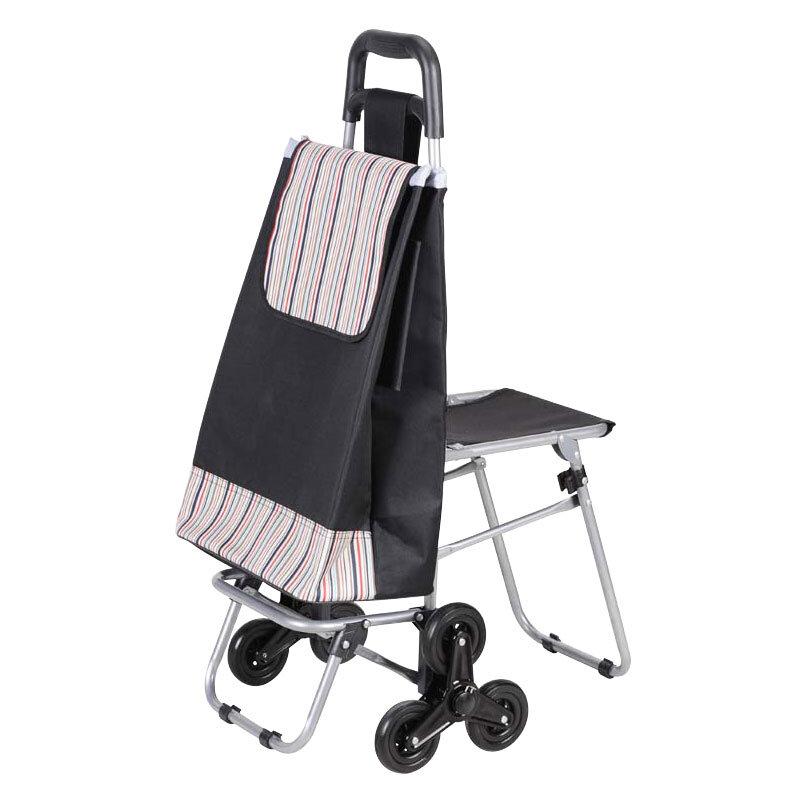 99183677b6b6 Сумка-тележка с 6-ю колесами и стульчиком C302-1 Рыжий кот, до 50 кг ...
